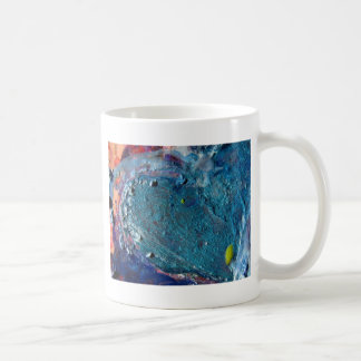 Heart Abstract Melted Crayon Collage Coffee Mug