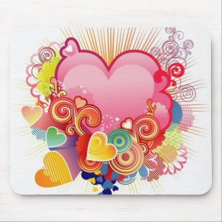 Heart abstract mouse pad