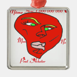 HEART ACHETER.png EURO Square Metal Christmas Ornament