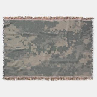 Heart Acu Uniform Military Camouflage Camo Throw