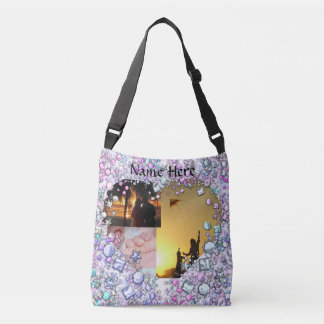 Heart Add Your Own Photos Crossbody Bag