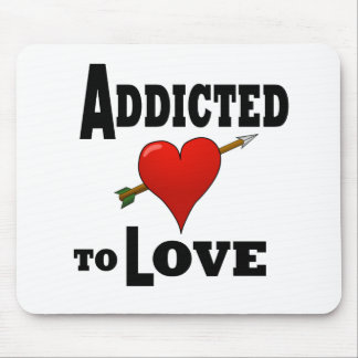 Heart Addicted to Love Mouse Pad