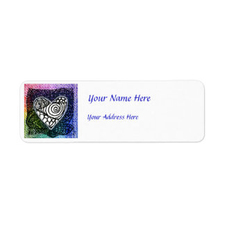 Heart Address Label - Colorful Heart
