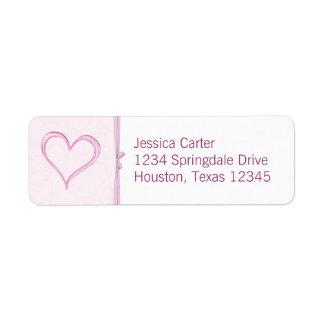 Heart Address Labels