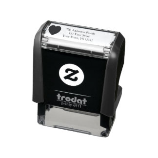 Heart Address Self-inking Stamp