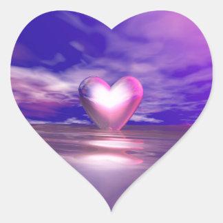 Heart Afloat Heart Sticker