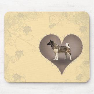 Heart Akita Mouse Pad