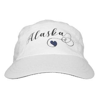 Heart Alaska Cap Hat. Alaskan Flag