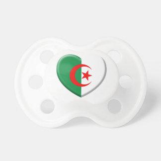 Heart Algérie flag coils Pacifier