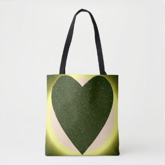 Heart All-Over-Print Tote Bag