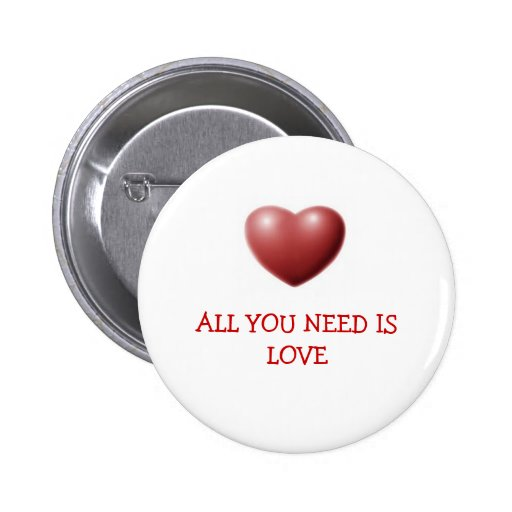HEART, ALL YOU NEED IS LOVE PIN