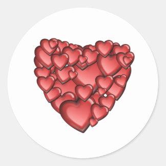 Heart Alot Classic Round Sticker