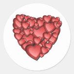 Heart Alot Round Sticker