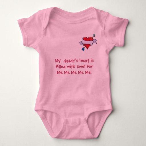 heart_& _arrow_3, el corazón de mi papá es tee shirt