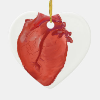 Heart Anatomy design Ceramic Ornament