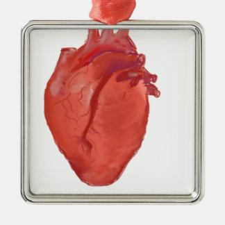 Heart Anatomy design Metal Ornament