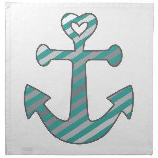 Heart Anchor Napkin