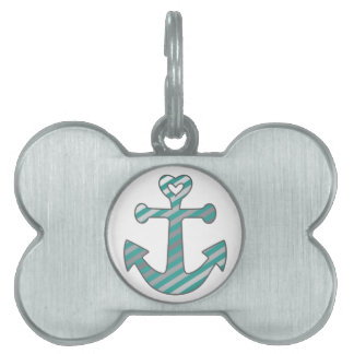 Heart Anchor Pet ID Tag