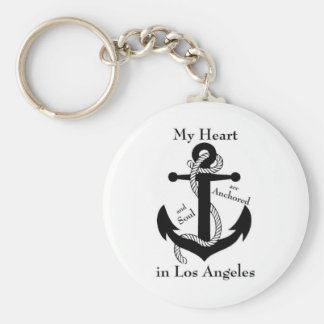 Heart Anchored in Los Angeles Keychain