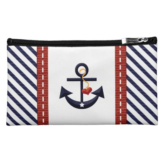 Heart and Anchor Cosmetic Bag
