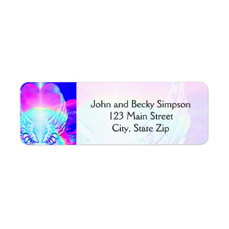 Heart and Angels Wings Return Address Label