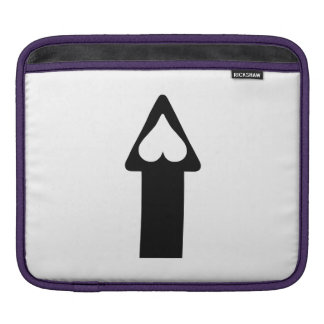Heart and Arrow iPad Sleeves