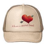 HEART AND ARROW MESH HATS