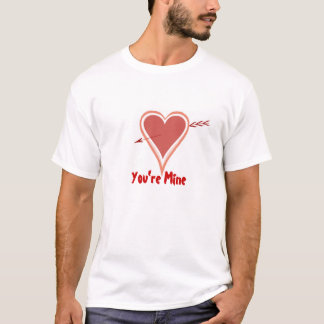 Heart And Arrow-Red T-Shirt