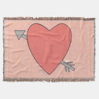 Heart And Arrow Valentine Blanket