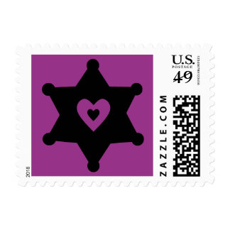 Heart and Badge Sheriff Deputy Postage Stamp