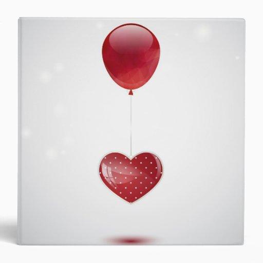 Heart and balloon 3 ring binders