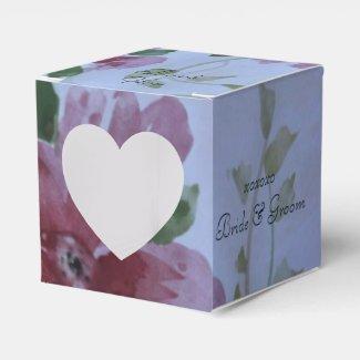 Heart and Burgundy Wedding Favors Favor Box