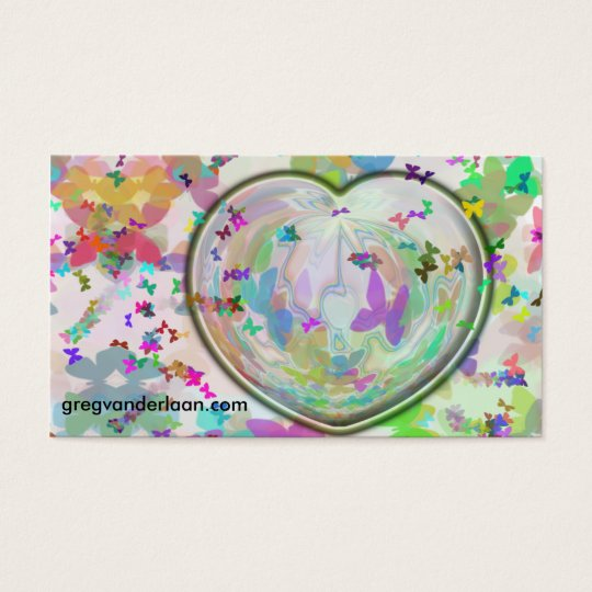 Heart and Butterfly Business Card
