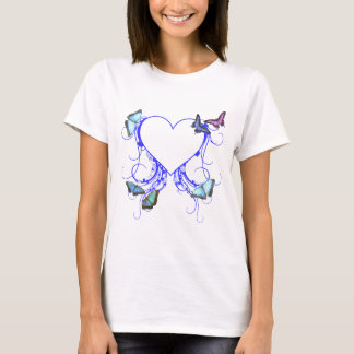 Heart and Butterfly T-Shirt