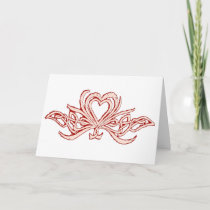 Heart and Celtic Knot Valentine Red Blush