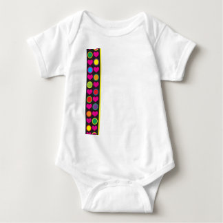 Heart and Circle Border Baby Bodysuit