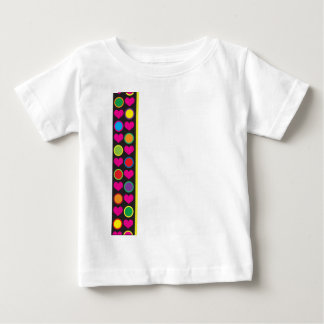 Heart and Circle Border Baby T-Shirt