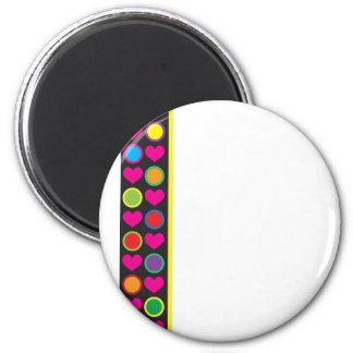 Heart and Circle Border Magnet