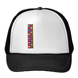 Heart and Circle Border Trucker Hat