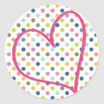 Heart and Colorful Dots
