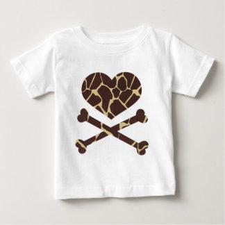 heart and cross bones giraffe tee shirts