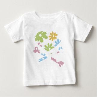 heart and cross bones pastel flowers shirts