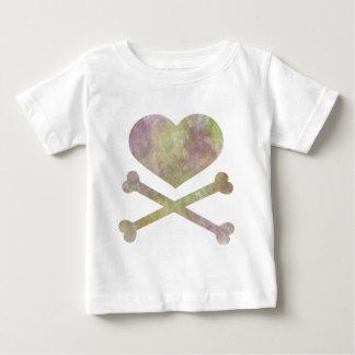 heart and cross bones water color t-shirt