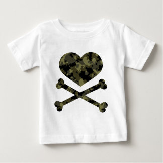 heart and crossbones forest camo infant t-shirt