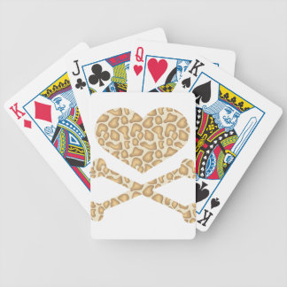 heart and crossbones giraffe light bicycle playing cards