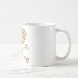 heart and crossbones giraffe light coffee mug