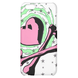 Heart and crossbones iPhone case Cover For iPhone 5C