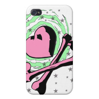 Heart and crossbones iPhone case iPhone 4/4S Case
