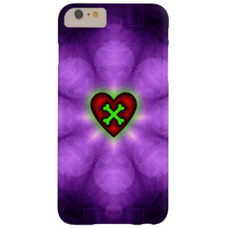 Heart and Crossbones Purple Barely There iPhone 6 Plus Case