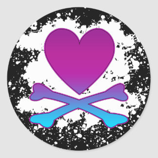 HEART AND CROSSBONES STICKERS